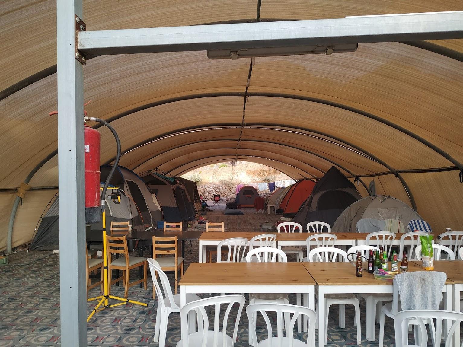 סידור לקבוצה באוהלים